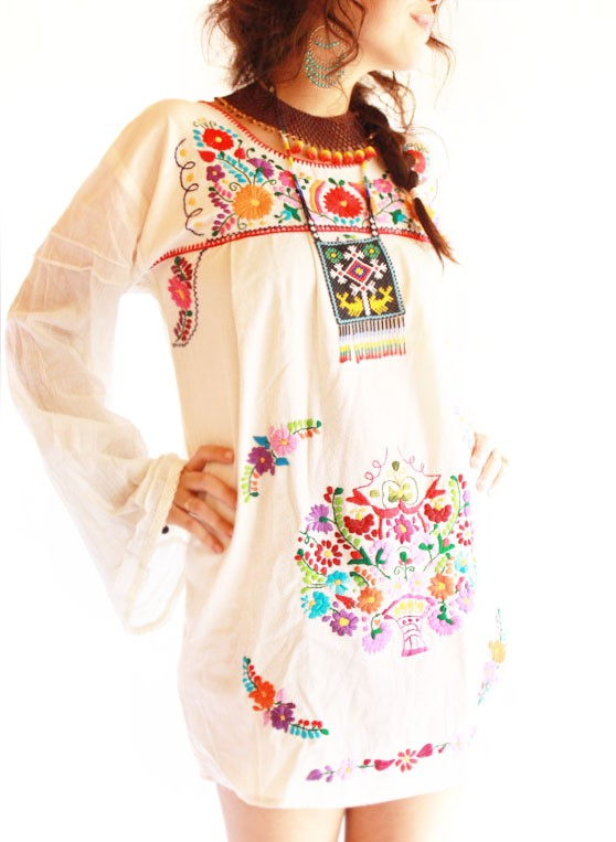 Mexican Embroidered Dresses « Fabulous Vintage Blog