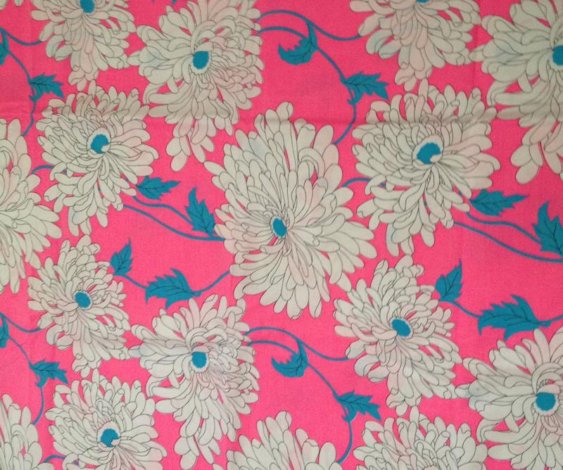 English vintage retro cotton fabric. Sanderson. So nice floral |Vintage Floral Fabric