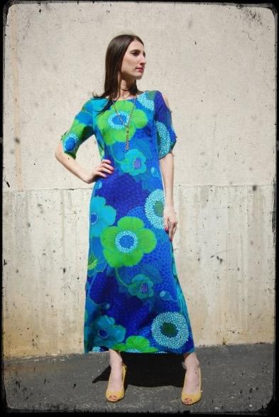 vintage-maxi-dress-hawaiian-turquoise-green-2