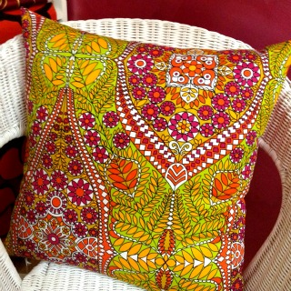 100% Vintage Fabric Cushion