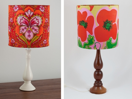 Beautiful vintage fabric lampshades, custom made to order.