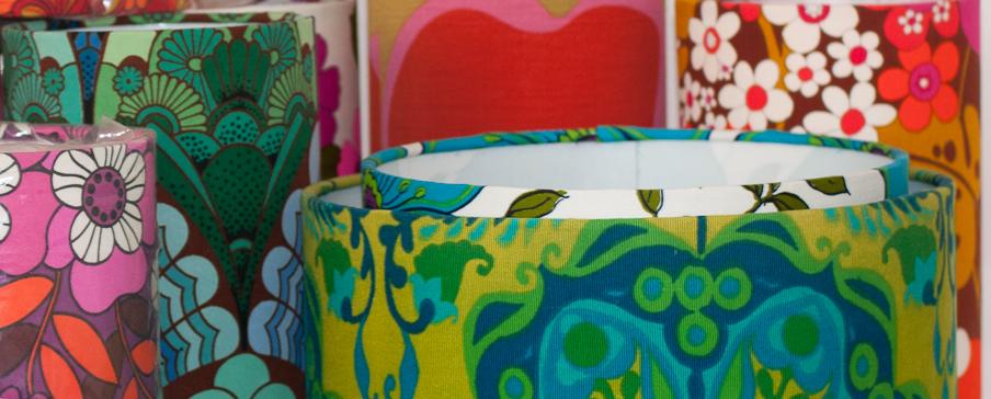 Vintage fabric lampshades fabulous vintage blog aloadofball Gallery