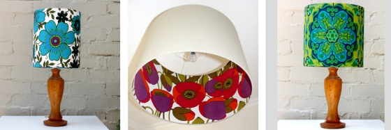 Beautiful vintage lampshades, custom made to order.