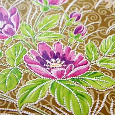 vintage-wallpaper-gold-green-blue-pink-floral-2